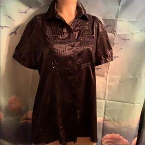 Maternity black beaded shirt large 12/14